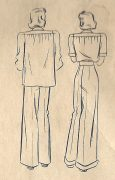 1940-WW2-Vintage-Sewing-Pattern-B34-SHIRT-PANTS-SLACKS-1491R-252081940453-2