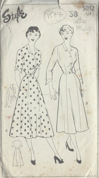1940s-Vintage-Sewing-Pattern-B38-DRESS-R77-251173233433