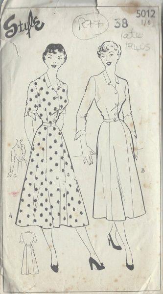 1940s-Vintage-Sewing-Pattern-B38-DRESS-R77-251173233433