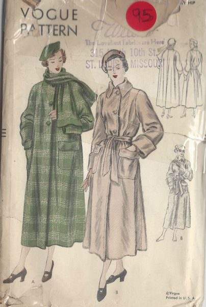 1940s-Vintage-VOGUE-Sewing-Pattern-B36-COAT-95-251173705113