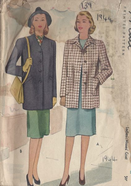 1944-Vintage-Sewing-Pattern-B32-COAT-139-251173794923
