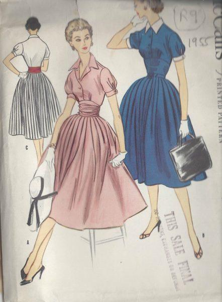 1955-Vintage-Sewing-Pattern-B34-DRESS-R9-251172215463