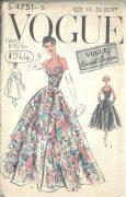 1956-Vintage-VOGUE-Sewing-Pattern-B36-EVENING-DRESS-1564-262189899383