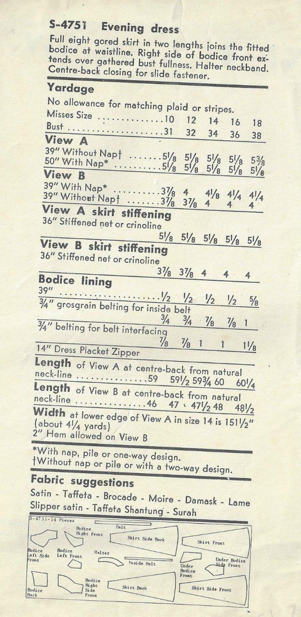 1956-Vintage-VOGUE-Sewing-Pattern-B36-EVENING-DRESS-1564-262189899383-2
