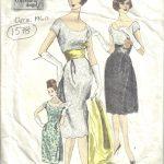 1960-Vintage-VOGUE-Sewing-Pattern-B36-DRESS-STOLE-SLIP-1578-262328480213