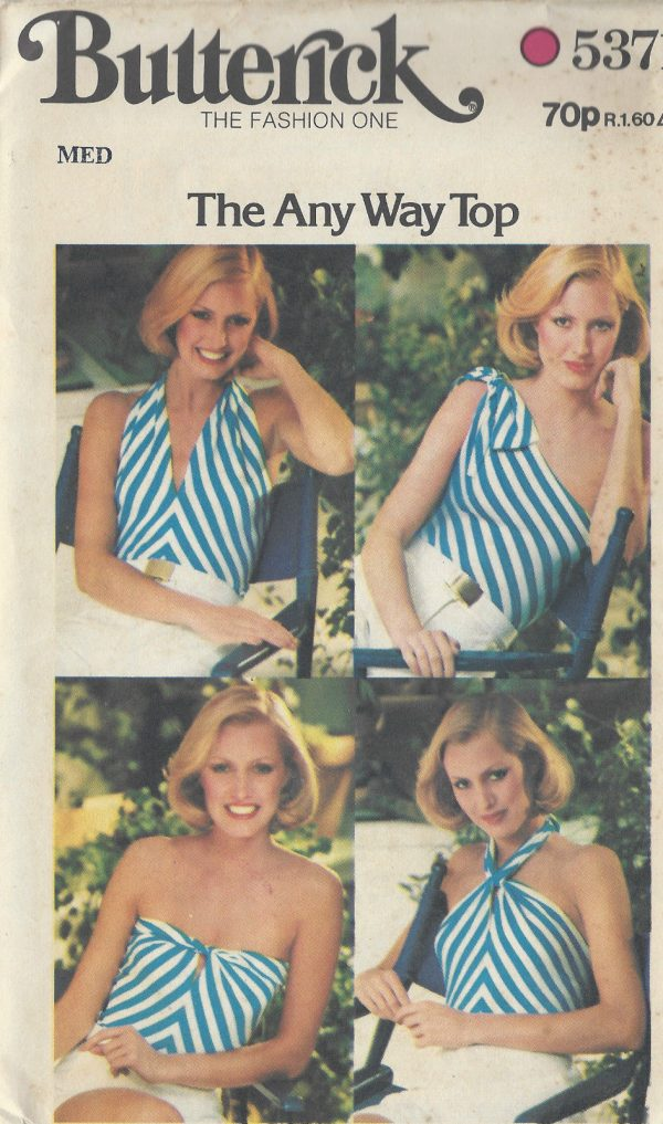 1970s-Vintage-Sewing-Pattern-B34-to-36-STRETCH-TOP-1008-251283560463