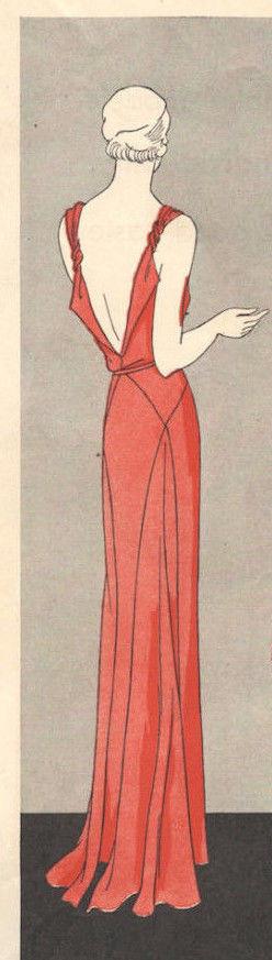 1931-Vintage-VOGUE-Sewing-Pattern-B32-12-DRESS-1201-262847911834-2
