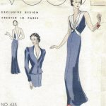 1939-VOGUE-Vintage-Sewing-Pattern-B34-EVENING-DRESS-JACKET-1026R-262847815594