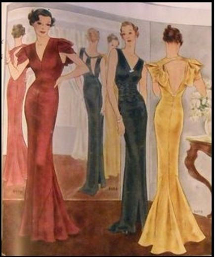 1939-Vintage-Sewing-Pattern-B36-EVENING-DRESS-R955-251263756714-2