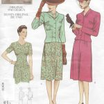 1940-Vintage-VOGUE-Sewing-Pattern-JACKET-DRESS-B34-36-38-R396-251142636074