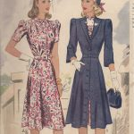 1941-Vintage-Sewing-Pattern-DRESS-COAT-B30-R592-251158559204