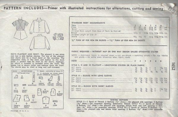 1945-WW2-Childrens-Vintage-Sewing-Pattern-S2-C21-BOYS-PLAYSUIT-SHIRT-C25-252527109214-2