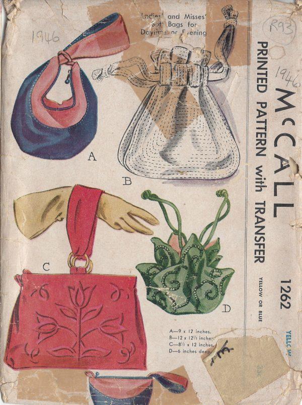 1946-Vintage-Sewing-Pattern-BAGS-TRANSFER-R93-252026726364