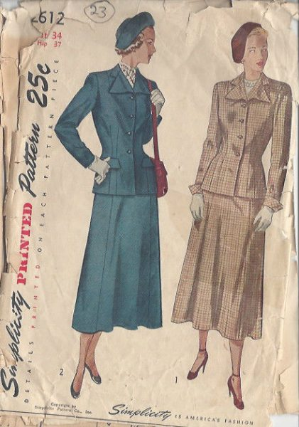 1948-Vintage-Sewing-Pattern-B34-TWO-PIECE-SUIT-23-251141731834