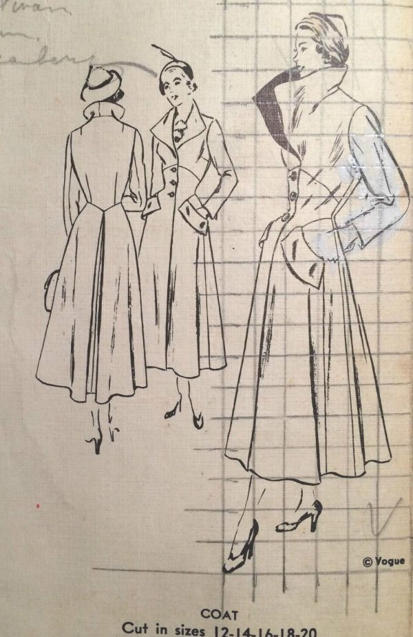 1950s-Vintage-VOGUE-Sewing-Pattern-B38-COAT-1387-261753964354-5
