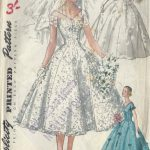 1955-Vintage-Sewing-Pattern-B36-BRIDE-BRIDESMAID-DRESS-VEIL-HEADPIECE-R961-251996381504