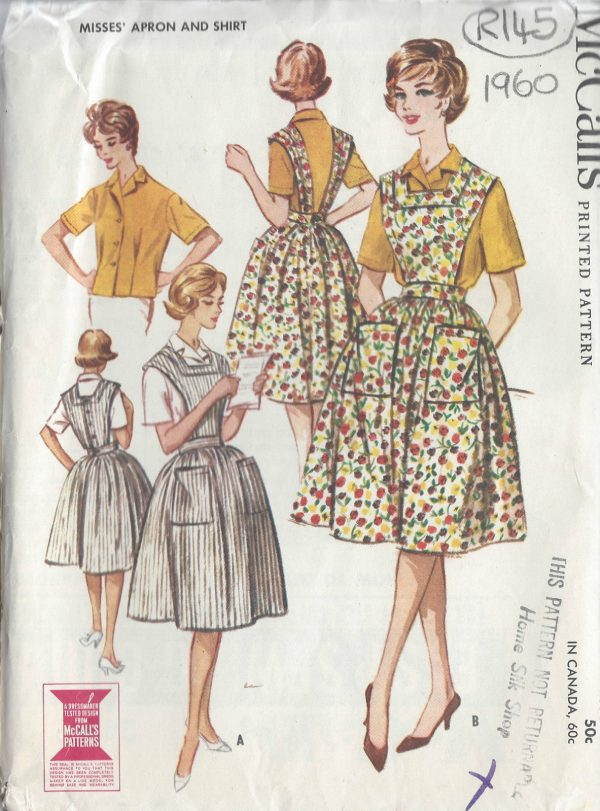 1960-Vintage-Sewing-Pattern-B32-APRON-SHIRT-R145-251165519684