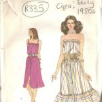 1980s-Vintage-VOGUE-Sewing-Pattern-DRESS-B36-R335-262557677334