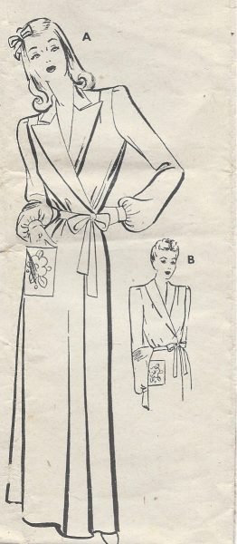 1940s-Vintage-Sewing-Pattern-36-DRESSING-GOWN-R539-261491199625
