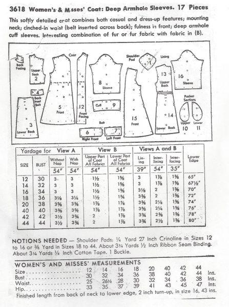 1940s-Vintage-Sewing-Pattern-B36-COAT-194-251173302865-3