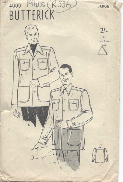 1940s-Vintage-Sewing-Pattern-JACKET-B42-44-LARGE-R536-251142264905