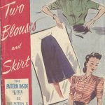 1940s-WW2-Vintage-Sewing-Pattern-B32-BLOUSE-SKIRT-1362R-251737192265
