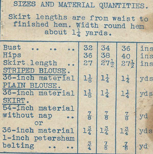 1940s-WW2-Vintage-Sewing-Pattern-B32-BLOUSE-SKIRT-1362R-251737192265-2