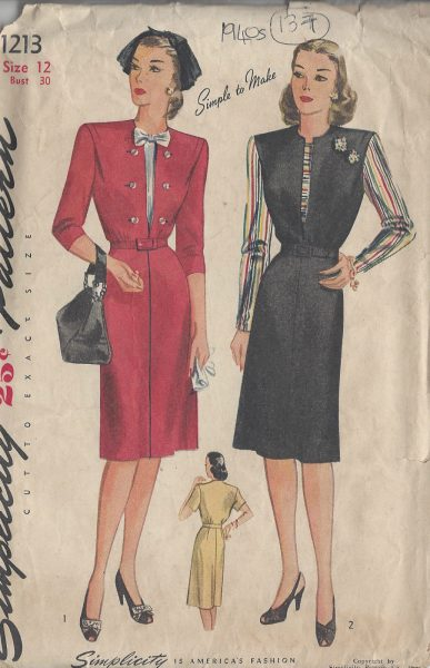 1944-Vintage-Sewing-Pattern-B30-DRESS-137-251173724215