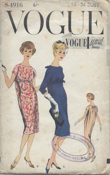 SIMONETTA of ITALY 1958 Vintage VOGUE Sewing Pattern B36 DRESS /& BOLERO 1118
