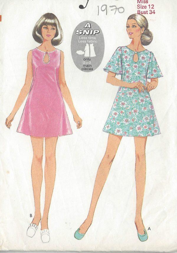 1970-Vintage-Sewing-Pattern-B34-DRESS-R683-251181560465