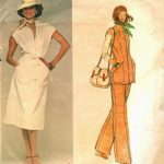 1970s-Vintage-VOGUE-Sewing-Pattern-B36-TOP-PANTS-DRESS-1711R-Jerry-Silverman-252485775375