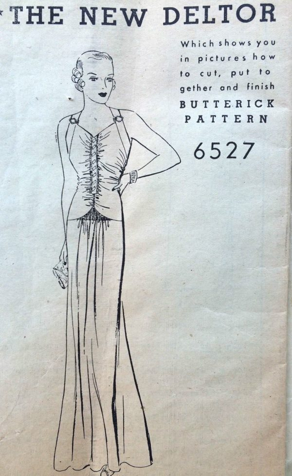 1930s-Vintage-Sewing-Pattern-B38-EVENING-DRESS-1648-252395118156-5