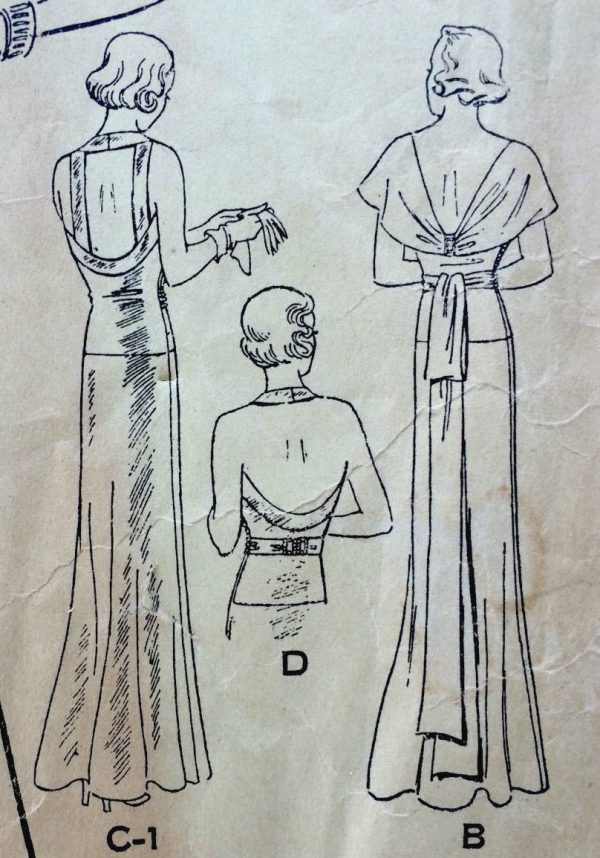 1930s-Vintage-Sewing-Pattern-B38-EVENING-DRESS-1648-252395118156-8
