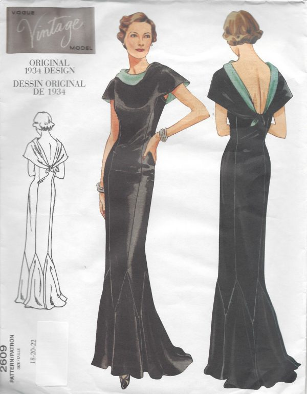 1934-Vintage-VOGUE-Sewing-Pattern-B40-42-44-DRESS-R949-251263704826