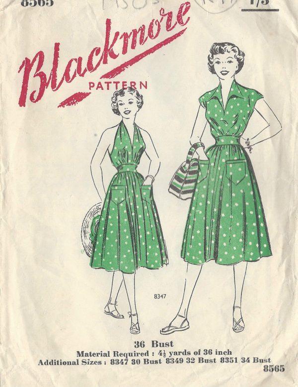 1940s-Vintage-Sewing-Pattern-B36-SKIRT-SUN-TOP-BLOUSE-R97-251144499566