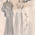 1940s-Vintage-Sewing-Pattern-B38-DRESS-JACKET-170-251182354006