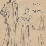 1940s-Vintage-Sewing-Pattern-B38-DRESS-JACKET-170-251182354006-2