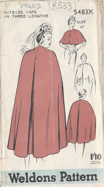1940s-Vintage-Sewing-Pattern-CAPE-B42-R533-251142452146