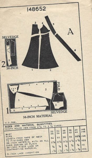 1940s-WW2-Vintage-Sewing-Pattern-B34-NIGHTDRESS-1477-252055831526-2