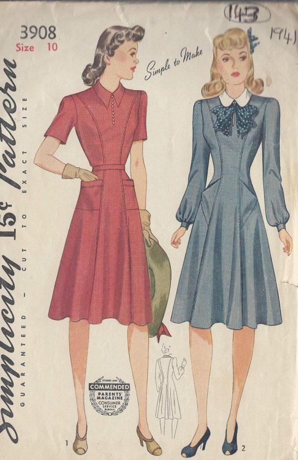 1941-Vintage-Sewing-Pattern-B28-DRESS-143-251173791786