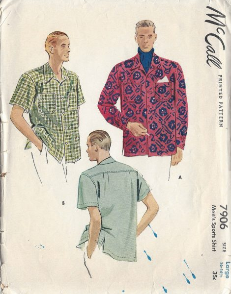 1949-Vintage-Sewing-Pattern-MENS-SHIRT-S16-16-12-R722-251174614376