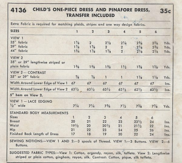 1952-Childrens-Vintage-Sewing-Pattern-S2-C21-DRESS-TRANSFER-C6-261513701856-3
