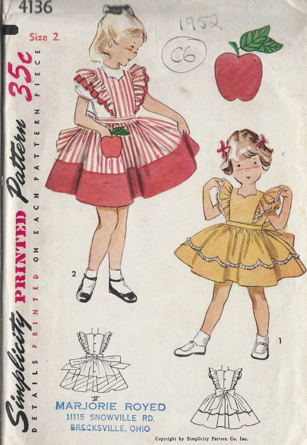 1952-Childrens-Vintage-Sewing-Pattern-S2-C21-DRESS-TRANSFER-C6-261513701856