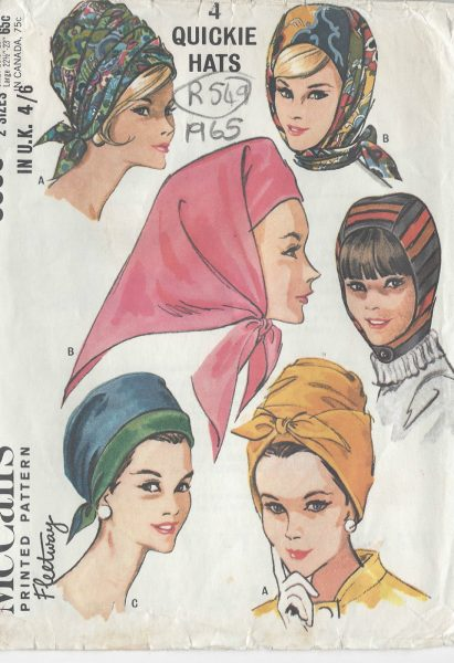 1965-Vintage-Sewing-Pattern-HATS-SMALL-LARGE-R549-251142295206