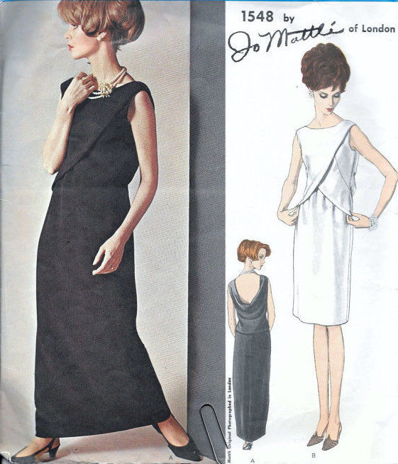 1965-Vintage-VOGUE-Sewing-Pattern-B34-EVENING-DRESS-1804-By-Jo-Mattli-262919147766-4