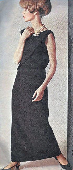 1965-Vintage-VOGUE-Sewing-Pattern-B34-EVENING-DRESS-1804-By-Jo-Mattli-262919147766-5