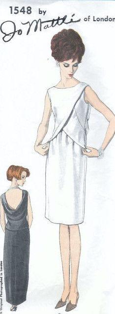 1965-Vintage-VOGUE-Sewing-Pattern-B34-EVENING-DRESS-1804-By-Jo-Mattli-262919147766-6