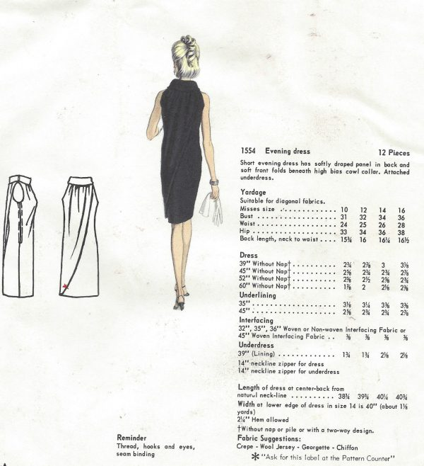 1965-Vintage-VOGUE-Sewing-Pattern-B36-DRESS-1386-By-Laroche-252432868366-2