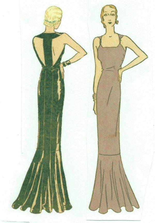1930s-Vintage-Sewing-Pattern-B34-EVENING-DRESS-R952-251263739427