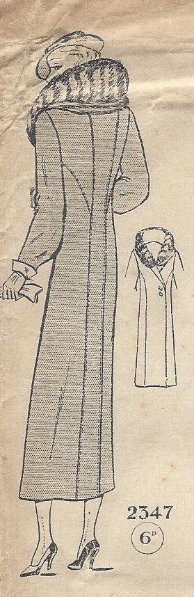 1930s-Vintage-Sewing-Pattern-COAT-B42-201-262282986757